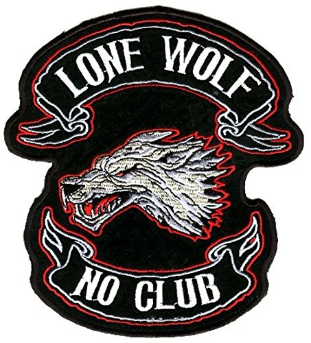 Aufnäher Bügelbild Aufbügler Iron on Patches Applikation Patch Tribal Lone Wolf 9 x 10,5cm (Trachten Wolf)