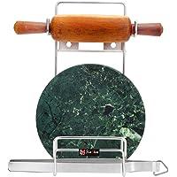 SLIMSHINE Stainless Steel Rolling Pin Holder Chakla Belan Stand (Hardware Included)