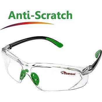 SAFEYEAR Occhiali Protettivi da Lavoro Uomo Trasparenti con Lenti  antiappannamento - SG003GN Laboratorio Chimico Antiappanno Occhiale  Protettivi Occhiali Di ... 48cf58684dd