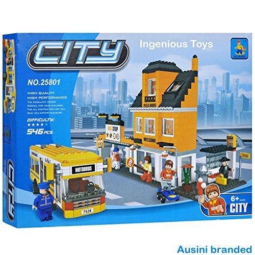 Ausini Autobús y Tienda / ciudad creador Ciudad centro casa amigos NUEVO 546pcs #25801