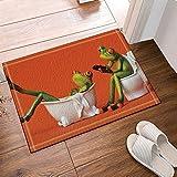 CDHBH para niños antideslizante diseño rana sentada el inodoro la niña la bañera para al...