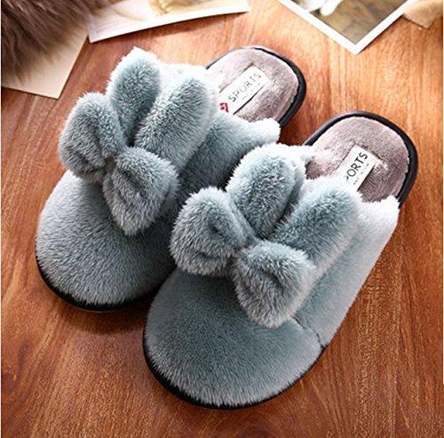 Pantoufles en coton Ms Winter Intérieur Floor Anti-dérapant Base épais Lovely Home en laine Pantoufles ( couleur : N ° 2 , taille : 38-39 ) N ° 3