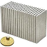 20 Mini Magnete, ultrastark - 6x3mm - NEODYM - Das Original - Oblique-Unique®