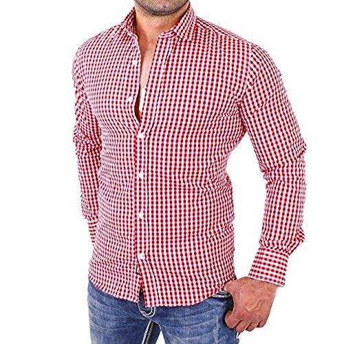 Camisa a Cuadros de los Hombres Camisa de los Hombres de Negocios...