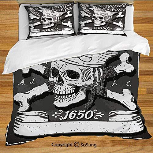Piraten Wirbelt - Piraten Bettwäsche Bettbezug Set, Piraten Bucht
