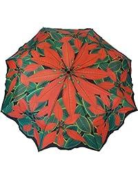 Blooming Brollies - Plegable  Rojo rojo