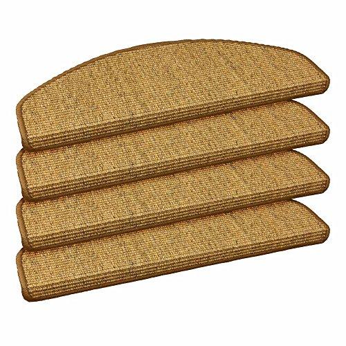 Stufenmatte Sisal Stufenmatten Stufenteppich Treppenteppich 22x56cm versch. Farben, Farbe:Sand-Dunkelbeige