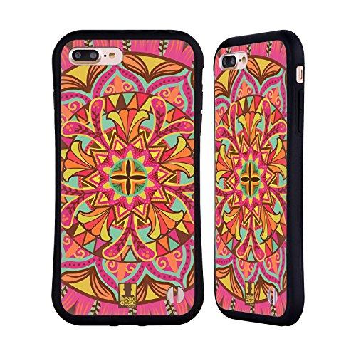 Head Case Designs Paradiesliebe Mandala Blumen Hybrid Hülle für Apple iPhone 7 Plus / 8 Plus (Backplate Blume)