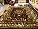 BAGEHUA Maßgeschneiderte türkischen Teppich Wohnzimmer Schlafzimmer Esszimmer Studie Teppiche, 1600mmx2300Mm, 1064 EIN Dunkles Braun