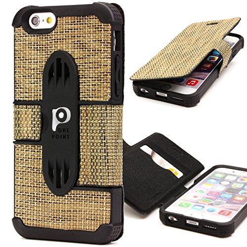 Étui iPhone 6 / 6s, Urcover TPU Tissu Series Housse [avec Fente pour Cartes] Coque Apple iPhone 6 / 6s Robuste Case Téléphone Variant 4 Smartphone Cover Variant 4