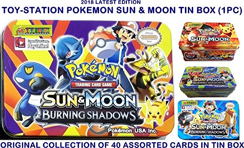 TOY-STATION - POKEMON - SUN & MOON - 2018 - LIMITED EDITION TRADING CARDS (POKEMON SUN & MOON TIN BOX)