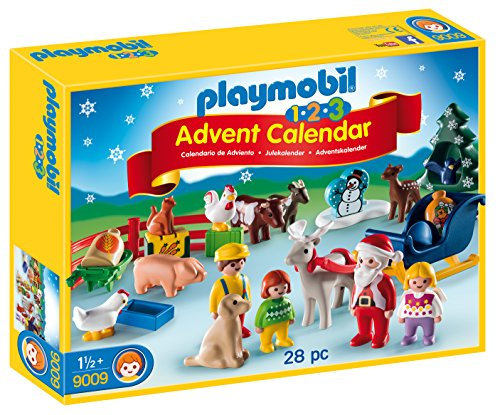 Playmobil 1.2.3 calendario de adviento, granja de animales (9009)