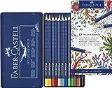 Faber-Castell 114212 - Farbstifte ART GRIP Aquarelle, 12er Metalletui