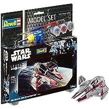 Revell Star Wars Set OBI Wans Jedi Starfighter, en Kit Modelo con Base Accesorios,