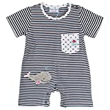 SALT AND PEPPER Baby - Jungen Strampler BG Playsuit kurz stripe 73824125, Gestreift, Gr. 62, Blau (navy blue 450)