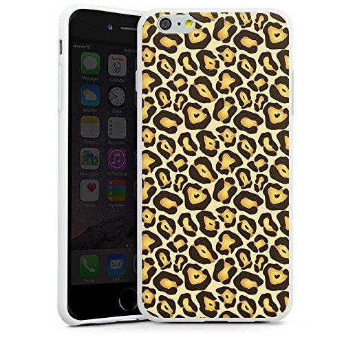 Apple iPhone X Silikon Hülle Case Schutzhülle Dschungel Animal Print Muster Braun Silikon Case weiß