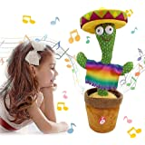 HAOYA Dancing Cactus Toy, Included 120 Music Songs, Sing Dance Recorde and Repeat What You say, Early Childhood Education Toy