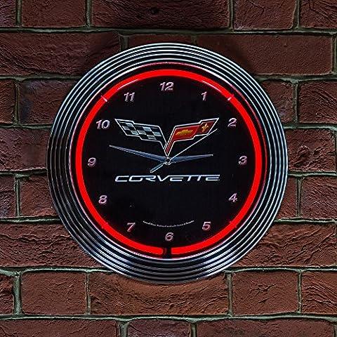 CORVETTE C6 CLOCK - Real Neon (not LED)