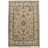 Tradizionale a mano Kashan tappeto persiano, lana/Art. Seta (highlights), marrone
