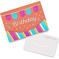 Amazon.co.uk Gift Card in a Happy Birthday Mini Envelopes