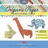 Origami Papier Adventure Pack Set – 120 Faltblätter – traditionelles japanisches Bastelpapier mit 40 Mustern, Blumen, Tieren, Azteken – basteln Sie Blumen, Kraniche, Eulen, Vögel & Drachen