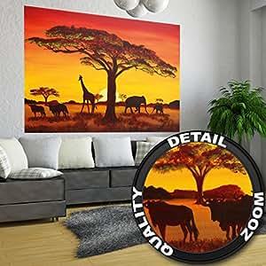 African sunset tramonto in africa fotomurale africa for Tappezzeria da parete