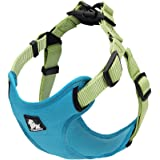 "PetsUp Weighted Dog Harness for Large Medium Small Puppy Dogs ((43"" - 56"" cm Girth), Color-Sea Blue)"