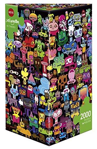 Heye- Puzzle Hi There Jon Burgerman Triangolare, 2000 Pezzi, VD-29416