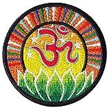 Om Psychedelisches Chakra Aufnäher Aufbügler Patch Esoterik Buddha Hindu Kunst (Klein )