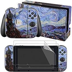 eXtremeRate® Adesivi Completi per Decalcomanie Della Pelle Frontale per Nintendo Switch Joy-con protezione da schermo da 2 pezzi (Star Wars)