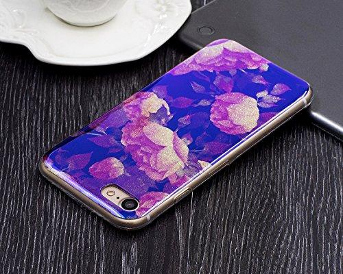 Pour Apple IPhone 7 Case, ultra léger, léger, de luxe, bleu, lumière, TPU, silicone, gel, protection arrière, couverture ( Color : D ) L