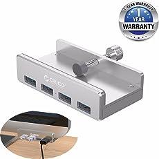 Orico Clip Type Portable Aluminium Alloy High Speed USB 3.0 4 Port USB HUB