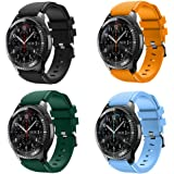 KOMI Correa de reloj compatible con Samsung Gear S3 Frontier/Classic, 22 mm de liberación rápida silicona Fitness Sports corr
