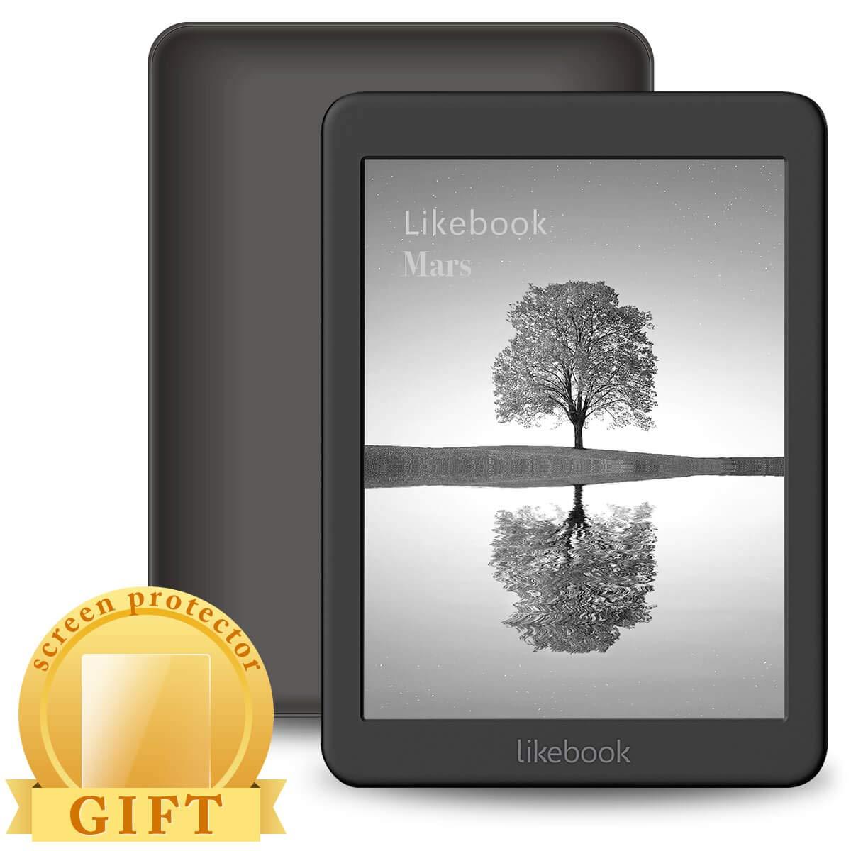 LikeBook Mars E-Reader, Pantalla Táctil De 7.8″, 300PPI, Procesador De 8 Núcleos, Luz Cálida/Fría Ajustable Incorporada, Audible Incorporado, Android 6.0, Google Play Store 16GB