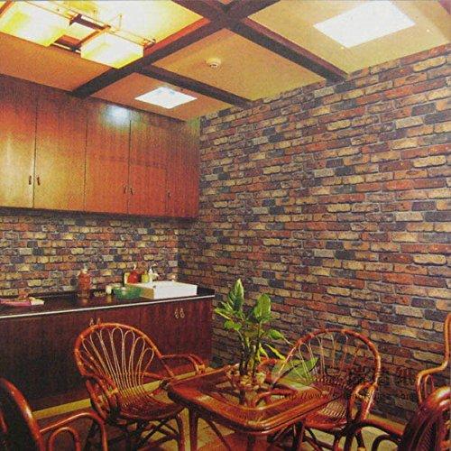 neue klassische chinesische nachahmung brick muster tapete hotel der bar - restaurant osaka ziegelherstellung restaurant tapete,0031,tapete nur