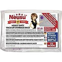 Neusu Vakuum-Aufbewahrungsbeutel - Hochwertige 110 Mikron-Qualität Komprimierung - Platzsparende Beutel (Jumbo XXL 130 x 100 cm, 5-er Pack)
