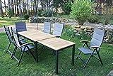 7-teilige Bukatchi Gartenmöbel Gruppe, 6 x Klappsessel
