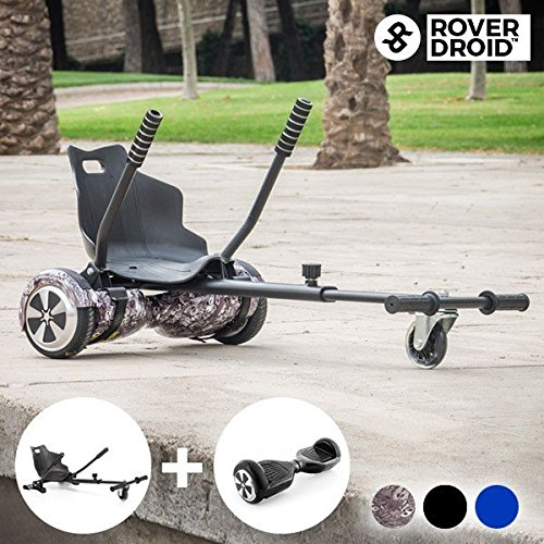 Preisvergleich Produktbild Hoverkart Go! Kart 720 + Hoverboard Rover Droid Pack - Elektrisches blaues Hoverboard