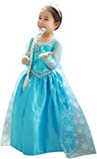 Fancydresswale elsa Princess Party Dress Costume Frozen Inspired - (Only Gown) (4-6)
