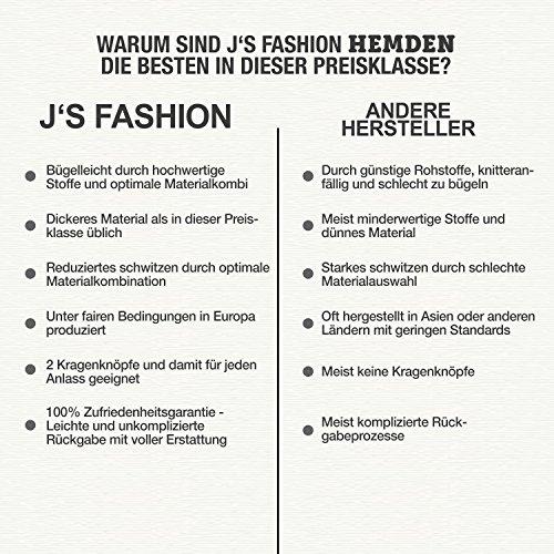 Herren-Hemd – Slim Fit – bügelfrei / bügelleicht – Ideal für Anzug, Freizeit, Business, Hochzeit – viele verschiedene Farben – Langarm Hemden mit Kontrast für Männer - navyblau - S - 4