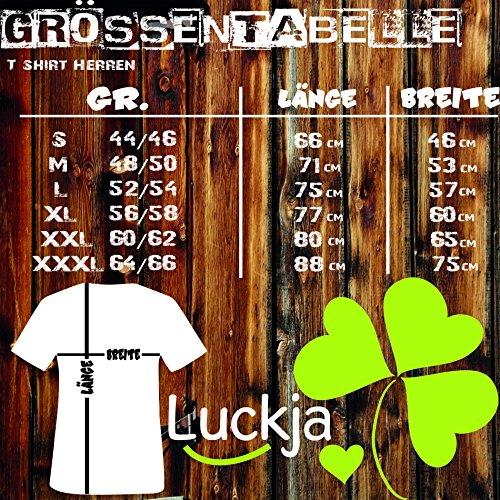 Luckja Deutschland Fanshirt EM 2016 M 04 Herren Rundhals T-Shirt Grau/Bunt