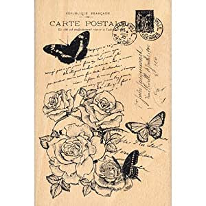 Florilèges Design FHA213008 Tampon Scrapbooking Carte Shabby Beige 15 x 10 x 2,5 cm