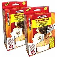 2er Set Wärmegürtel mit 8 Wärmekissen | Wärme Rückengurt Heizkissen Wärmepads preisvergleich bei billige-tabletten.eu
