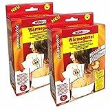2er Set Wärmegürtel mit 8 Wärmekissen | Wärme Rückengurt Heizkissen Wärmepads