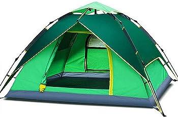 ToWinle VERDICKES Outdoor Zelt Automatische Wurfzelt Trekkingzelt Leicht Camping Zelt Pop Up Wurfzelt für 3-4 Personen 200 x 180x 130cm 【Verbesserte Version】