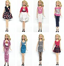 "Ocamo 3pcs/5pcs Handmade Casual Style Bobbi Doll Clothes Set Elegant Dress for 11"" Barbie/Pullip Doll/Jenny Doll for Girls' Birthday Gift"