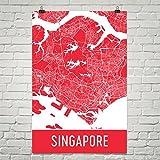 Singapur Poster, Singapur Kunstdruck, Singapur Wandkunst, Singapur Karte, Singapur Stadtplan, Singapur Island Stadt Karte Kunst, Singapur Geschenk, Singapur Dekor, (12
