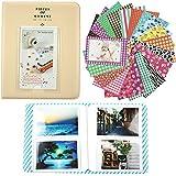 Alohallo 64 bolsillos del álbum de foto / 20 Psc pegatinas para Fujifilm Polaroid instantánea película de la foto y tarjeta de identificación - Blanco