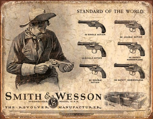 smith-and-wesson-revolvers-standard-of-the-world-distressed-retro-vintage-tin-sign-32x41-cm