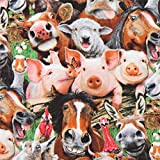 Elizabeth's Studio Baumwollgewebe mit Tieren, aus den USA,